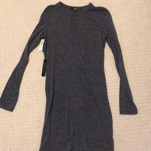 Aritzia Grey cutout dress